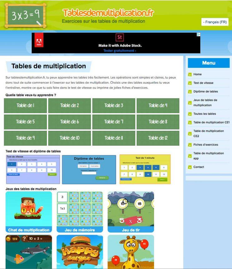 Blog tice corse - Logiciel educatif fr math tables multiplication ...